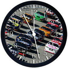 Nascar Black Frame Wall Clock Nice For Decor or Gifts W127