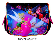 "Disney Tinker Bell Fairy 15"" Messenger Tote Shoulder Diaper Book Bag Purse-6762"