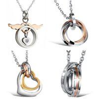 Damen Halskette Edelstahl Ring Anhänger Kette 45cm Frauen Schmuck Kettenanhänger