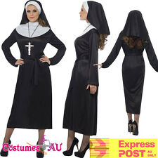Ladies Womens Nun Costume Mother Superior Erotic Sister Religious Fancy Dress