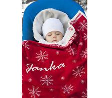 Baby Kuscheldecke individuell mit Name - Biobaumwolle, Geschenk zu Geburt, Decke