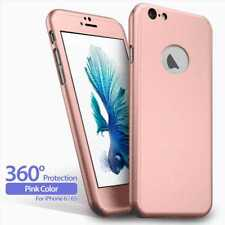 "Funda Carcasa de Proteccion 360º + Cristal Templado Para iPhone 6 6S 4.7"" Rosa"