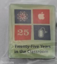 Apple Computer Pin Twenty Five Years in the Classroom 25 yrs Education Pinback