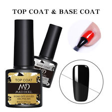8ml MAD DOLL Top Coat Base Coat Gel Nail Polish Soak Off Nail Gel Varnish Decor