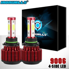IRONWALLS 1800W 270000LM 4 Sides LED headlight Kit 9006 HB4 HID 6000K White bulb
