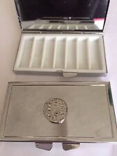 Richard I Penny Coin WC14 Pewter On Mirrored 7 Day Pill box Compact