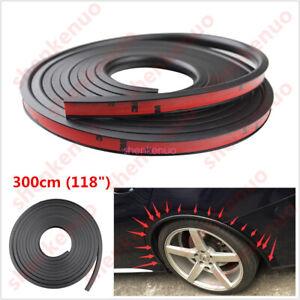 2pc 150cm Car Fender Flare Extension Wheel Eyebrow Moulding Trim Protector Lip