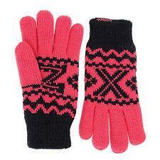 adidas Originals Unisex Pink ZX Padded Gloves Warm Winter Christmas Present Black L