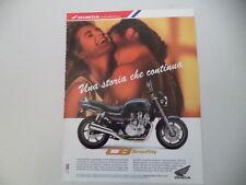 advertising Pubblicità 1992 MOTO HONDA CB 750 SEVENFIFTY