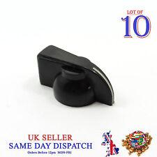10x 6mm Push on Knob for Potentiometer Plastic Cap Black 14mm