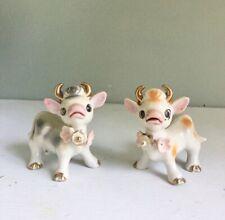 New ListingVintage Japan Cow Salt Pepper Shakers Farm Kitchen Farmhouse Animal Figurines