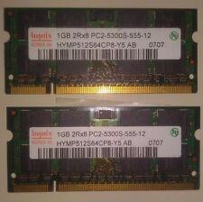 2x1 Gb PC2-5300S-555-12 Hynix DDR2