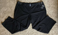 Zac & Rachel Woman Plus Size 22W Black Elastic Waist Faux Pocket Capri Pants NWT