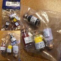 Dolls House Emporium 4022 Halloween  Witch Cauldron Ingredients  4  Jars NEW