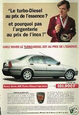 Publicité advertising 1997 Rover serie 400 Turbo Diesel Injection