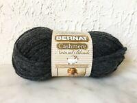 Bernat Cashmere Natural Blends Acrylic Nylon Cashmere Yarn - 1 Skein Coal #16040