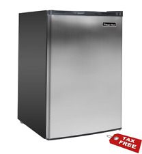 Upright Freezer Stainless Steel 3.0 Cu Ft w/ Adjustable Temperature Home, Office