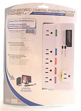 Monster Power® Digital PowerCenter 6 Outlet Surge Protector 1080J White COMPUTER