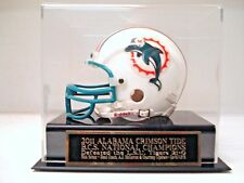 Display Case For Your 2011 Crimson Tide Champions Signed Football Mini Helmet