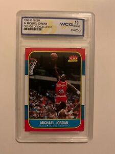 Michael Jordan Fleer Rookie Card 1996-97 Decade of Excellence graded GEM 10