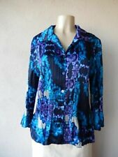Women's Jaclyn Smith Sleeve Polyester Multi Color Blouse Top Button Up NWT S XXL