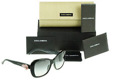RARE NEW Authentic DOLCE & GABBANA Womens Black Flower Sunglasses DG 4184 501/8G