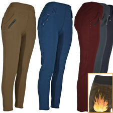 Womens Winter Pants Warm Fleece Fur Lined 4 Pocket Stretch Thermal Trousers
