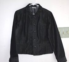 Chico's Jacket Womens size 1 or M Platinum Sparkle Denim Coat  --HGG