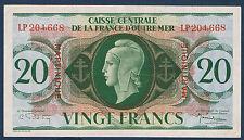 CAISSE CENTRALE DE LA FRANCE D'OUTRE MER - 20 FRS MARIANNE - Pick 24 du 2-2-1944