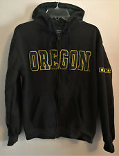 Oregon Ducks Zippered Hoodie S Small Green Lettering
