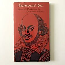 Shakespeare's Best Memorable Words From the Great Poems and Plays With Woodcuts