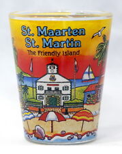 ST.MARTIN/ST.MAARTEN SUNSET GLASS SHOTGLASS