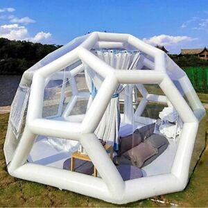 3,4,5m Football Structure Inflatable Bubble Lodge Hotel Tent Luxury Igloo Dome
