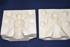 """Vtg Ceramic Pottery Slip Casting Mold Holland - Standing Angel - 5 1/4"""" T #H163"""