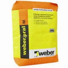 Weber Pral M Decorative One Coat Ready Mixed Render - Chalk Colour 20 Bag Deal