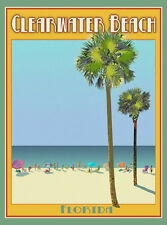 Clearwater Florida -Vintage Art Deco Style Travel Poster -by Aurelio Grisanty