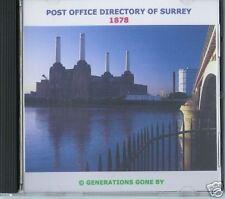 GENEALOGY DIRECTORY OF SURREY 1878 CD ROM