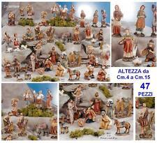 CRÈCHE avec des pièces modulaires avec 47 Nativité SUJETS coloré à la main BI35