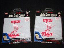 Set of 2 UNLV Runnin Rebels Vintage Logo Auto Seat Covers NEW SUPER RARE