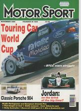 MOTOR SPORT  MAGAZINE  NOVEMBER 1995  TOURING CAR WORLD CUP   LS