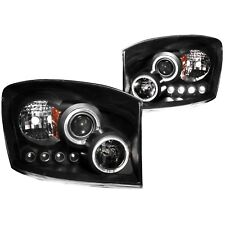 Anzo USA 111209 Projector Headlight Set w/Halo Fits Ram 1500 Ram 2500 Ram 3500