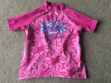 Sugoi Girls Bicycle Jersey Small Cycling Pink Blue Adrenalink Stretch Top Shirt