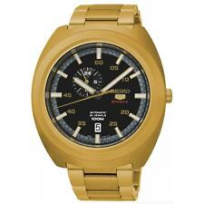 Seiko 5 Sports SSA284 K1 Gold Black Retro Diastar Mens Automatic Watch Seiko Box