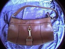 etienne aigner brown leather handbag purse with gold tone hardware 4 compartment