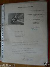 HT113-ORIGINAL AUTOGRAPH NOBERT PESCHKE 50CC,125CC,SIGNATURE,AUTOGRAMM,