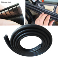 New 4m O/U Push Car Rubber Steel Moulding Strip Seal Closed Door Hood Trunk Trim