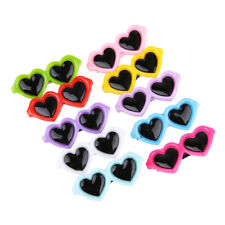 10pcs/Set Pet Dog Bows Hair Clips Lovely Heart Sunglasses Hairpin Pet Dog *DC