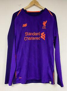 Liverpool Away 18/19 Football Long Sleeve Shirt New Balance Purple/Orange MEDIUM