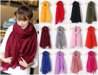 Plain Hijab Scarf Fashion Large Maxi Headscarf Womens Ladies Soft Wrap Shawl