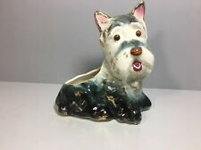 Vintage Scottie Dog Planter Ceramic Scottish Terrier